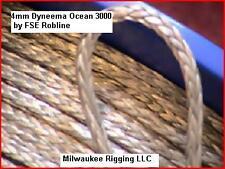 4mm ( 5/32 inch ) per-10 ft Grey Ocean 3000, FSE Robline dyneema SK75 - OC3-4GRY
