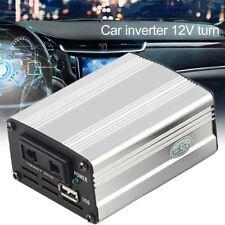800W - 1000W Silver Power Inverter Adapter Car Converter 12V to 240V USB AU EC