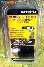 "Keyless Metal Drill Chuck 1/2""-20 UNF Mount - Suits Cordless & Power Drills"