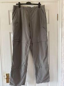 Mens Columbia   Walking / Hiking Zip Off  Trousers  Size 36 x  34   Tall / Long