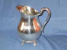 Vintage F.B.ROGERS Silver Co Silver Plated Jug Pitcher With Ice Lip