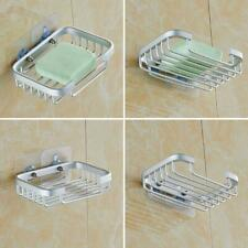 Wall Mounted Soap Dish Saver Holder Suction Dryer Waterfall Drain Clean Dry LA