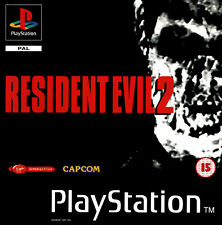 - Resident Evil 2 PS1 Front Back PAL Replacement Box Art Case Insert Cover Only