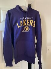 NBA 47 BRAND LOS ANGELES LAKERS HOODIE FRONT POUCH POCKET SIZE XXL