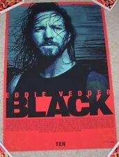 PEARL JAM concert gig poster print EDDIE VEDDER BLACK Lyrics Raj Khatri