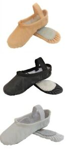Ballet Shoes Full Sole Leather Pink Black White Dance Gymnastic