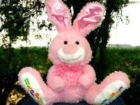 Dan Dee Pink Easter Bunny Rabbit Lovey Plush SUPER SOFT Stuffed Animal LOW PRICE