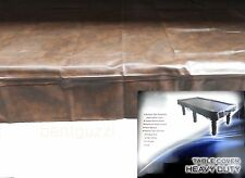 FORMULA Brown Heavy Duty 8ft TABLE COVER - Pool Snooker Billiards Balls