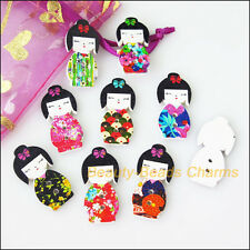 20 New Wooden Japan Dolls Buttons Fit Sewing Or Scrapbook Mixed 14.5x30mm