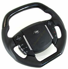 Volante Negro Fibra de fibra de carbono Range Rover Sport 2010 en Interior SMS