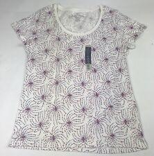 Faded Glory Women's Top T-Shirt Medium Cotton Sleeveless Stars Print Patriotic