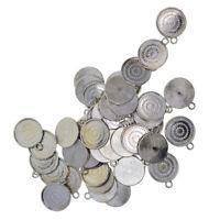50Pcs 16mm Cabochon Pendant Tray Base DIY Necklace Bracelet Jewelry Finding