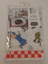 Tintin Herge rare nappe papier 120 x 180 cm Lune Tifany annees 90 TBE