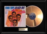 FOUR TOPS REACH OUT RARE GOLD METALIZED RECORD VINYL LP ALBUM NON RIAA AWARD