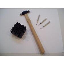 Kit spernatori martello base plastica e 3 perni in acciaio orologiaio orologi