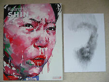 KwangHo Shin ORIGINAL Drawing SIGNED +Ltd Ed Book (+banksy eelus & dface photos)
