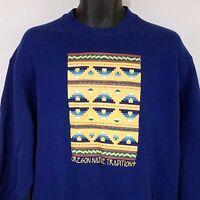 Oregon Native Traditions Sweatshirt Vtg Crewneck Southwestern Aztec USA Mens L