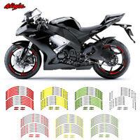 "MOTORCYCLE RIM ""17 STRIPES WHEEL DECALS TAPE STICKERS FOR KAWASAKI NINJA"
