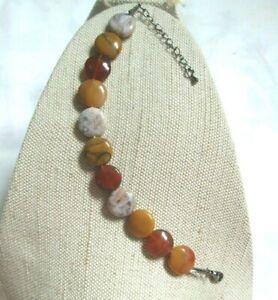 ~ Natural Agate Gemstone Bracelet ~ Jewellery ~ (O12)