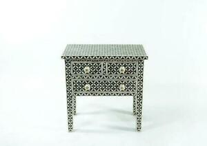 Handmade Bone Inlay 3 Chest Of Drawers Beautifully Crafted Diamond Design Home D