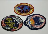 vintage lot of 3 unused NASA space launch patches