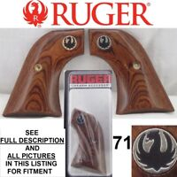 Genuine Ruger Rosewood Laminated Wood Grips New Vaquero Blackhawk NIB 71