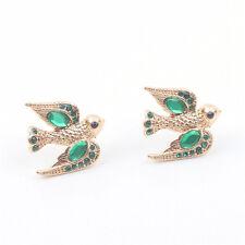 Boucles d'Oreilles Clous Oiseau Volant Vert Original Soirée Mariage Cadeau NN 2