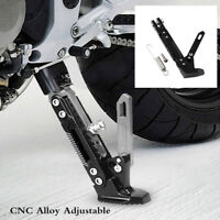 Black Alloy Adjustable Motorcycle Side Tripod Holder Cool Styling Fall Protect