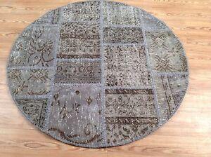 CUSTOM GREY vintage Overdyed Rug Handmade Turkish Patchwork Carpet rug