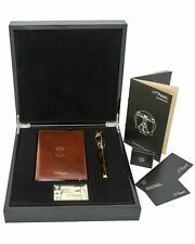 ST DUPONT VITRUVIAN MAN WRITING KIT LIMITED EDITION FOUNTAIN PEN LACQUER W GOLD