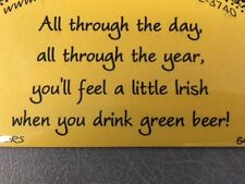 Cling mounted rubber stamp IRISH SENTIMENT, St. Patrick's Day, USA made