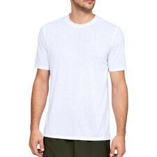 Under Armour Ua Threadborne Camiseta Blanca SPORTS Logo en Forma Manga Corta