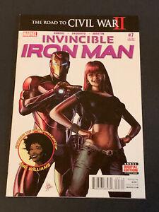 Invincible Iron Man #7 !! VF/NM ! First Riri App Cameo HTF 3rd Print Printing !