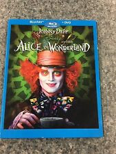 Alice in Wonderland *** Blu-ray & DVD *** LIKE NEW *** Johnny Depp, Tim Burton