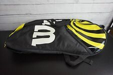 Wilson BLX Tennis Racquet Backpack Carry Bag Yellow/Black Racket