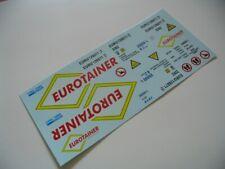 """Decalbogen """"Eurotainer"""" 1:24 für 20-Fuss Tank-Container 22K2"""