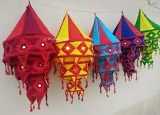 5 Pcs Lot Indian Decorative Lamp Cotton Fabric Collapsible 100% Huge Wholesale