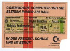 Orig.Ticket  Cup der Landesmeister 85/86   BAYERN MÜNCHEN - AUSTRIA WIEN  1/8 F.