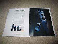 Jbl L7, L5, L3, L1 Speaker Ad, 2 pgs, 1990, Article