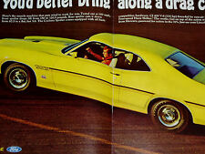1970 MERCURY CYCLONE SPOILER ORIGINAL AD COBRA JET 429/GT/door/hood/bumper/wheel