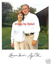 George W. Bush & Laura Bush preprint signed 8x10 photo
