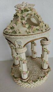 LILLIAN ROSE Gazebo Cake Topper Roses Cut Out Hearts Doves Resin Wedding
