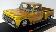 Sunstar 1/18 Scale Diecast - 1393 Chevrolet C-10 Stepside Pick-up Lowrider Gold