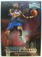 1997 97-98 Metal Universe Tracy McGrady #36, Rookie Card RC Raptors Foil