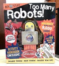 Too Many Robots! Activity Handbook & Kit NEW Build Robots Make Over 9000 Combos