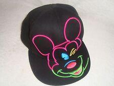 Vintage Disney Mickey Mouse Snapback Cap Neon
