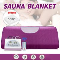 Far Infrared Sauna Blanket Digital Controller Slimming Weight Detox Spa+50 Sheet