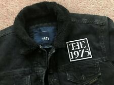 The 1975 Black Denim Tour Jacket with Fur Collar and Lining 100% Cotton Rocker L