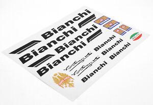 BIANCHI Decals Sticker Aufkleber Dekor 16-teilig Set Rennrad road bike - schwarz