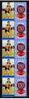 STURT FC 150th OF FOOTBALL STRIP OF 10 MINT VIGNETTE STAMPS